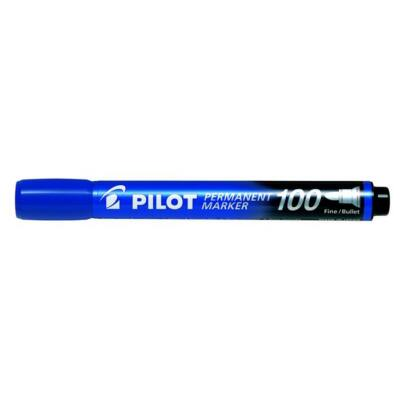 Alkoholos marker, 1 mm, kúpos, PILOT Permanent Marker 100, kék (PPM100K)