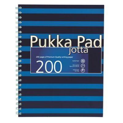Spirálfüzet, A4+, vonalas, 100 lap, PUKKA PAD, Navy Jotta, kék (PUPJ6675V)