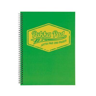 Spirálfüzet, A4, vonalas, 100 lap, PUKKA PAD Neon, zöld (PUPJ7148V)