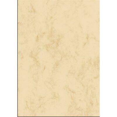 Előnyomott papír, kétoldalas, A4, 200 g, SIGEL, bézs, márványos (SDP397)