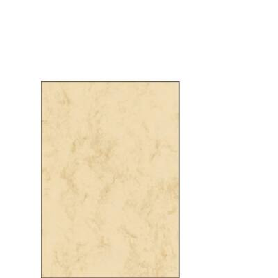 Előnyomott papír, kétoldalas, A5, 90 g, SIGEL, bézs, márványos (SDP907)