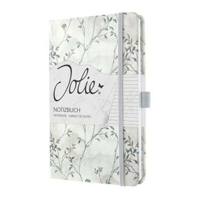 Jegyzetfüzet, exkluzív, 135x203 mm, vonalas, 174 oldal, keményfedeles, SIGEL Jolie, Blue Romance (SIJN301)