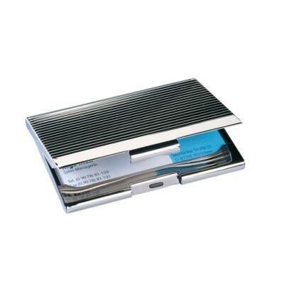 Névjegytartó tárca, fém, 20 db-os, SIGEL, ezüst (SVZ130)