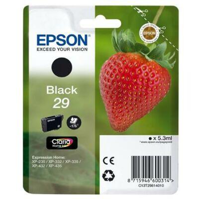 C13T29814010 Tintapatron XP235/332 nyomtatókhoz, EPSON, fekete, 5,3ml (TJE29814)