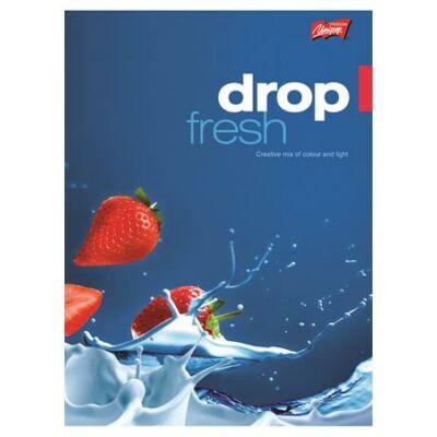Füzet, tűzött, A4, kockás, 96 lap, UNIPAP Fresh Fruit (UNFF496K)