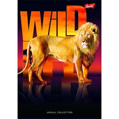Spirálfüzet, A4, kockás, 96 lap, UNIPAP Wild life (UNWF496K)