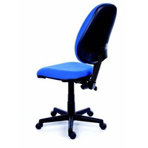 Irodai szék, kék szövetborítás, fekete lábkereszt, MAYAH Happy Plus (BBSZVV07)