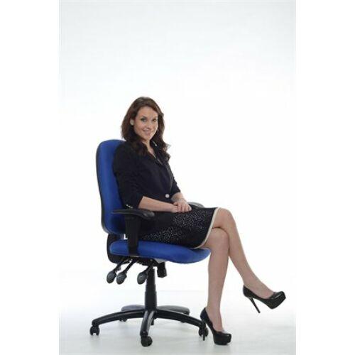 Irodai szék, állítható karfával, exkluzív kék szövetborítás, fekete lábkereszt, MAYAH Energetic (BBSZVV12)