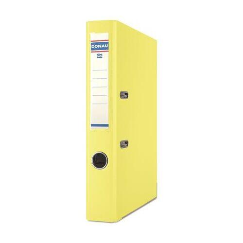 Iratrendező, 50 mm, A4, PP/karton, élvédő sínnel, DONAU Master, citromsárga (D3947S)