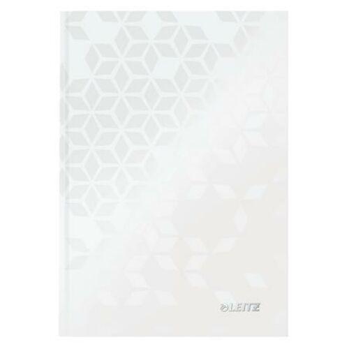Beíró, A5, kockás, 80 lap, keményfedeles, LEITZ Wow, fehér (E46281001)