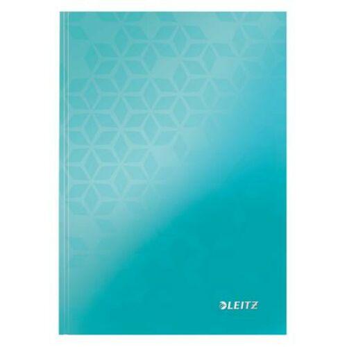 Beíró, A5, kockás, 80 lap, keményfedeles, LEITZ Wow, jégkék (E46281051)