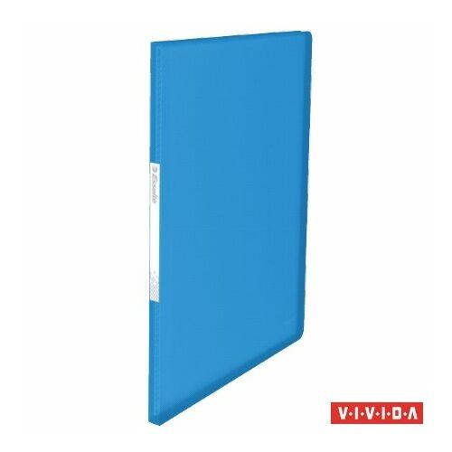 Bemutatómappa, 20 zsebes, A4, ESSELTE Vivida, kék (E623990)