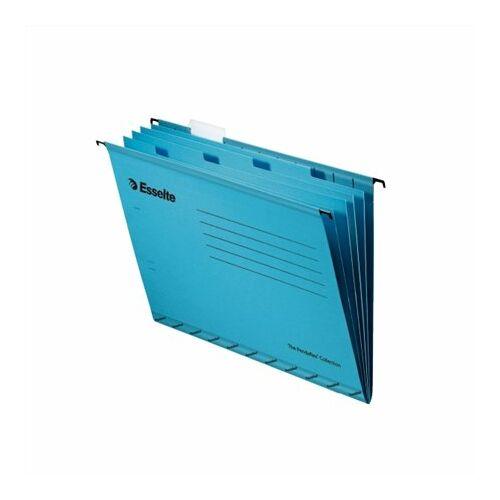 Függőmappa, újrahasznosított karton, A4, elválasztólapokkal, ESSELTE Classic, kék (E93133)