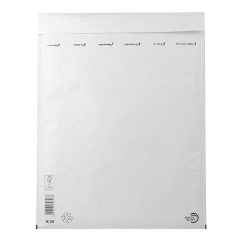 Légpárnás tasak, 370x480 mm külméret, 350x470 mm belméret, VICTORIA, W10, fehér (IBIL19)
