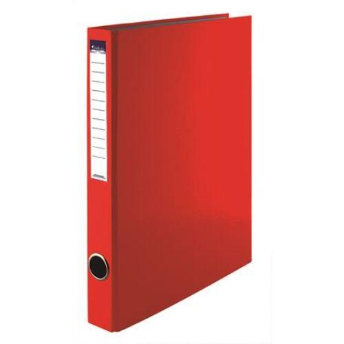 Gyűrűs könyv, 2 gyűrű, 35 mm, A4, PP/karton, VICTORIA, piros (IDVGY03)