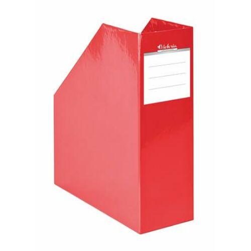 Iratpapucs, karton, 90 mm, VICTORIA, Premium, piros (IDVPFP)
