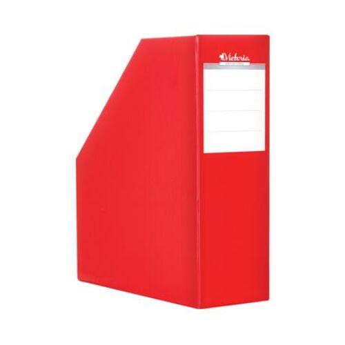 Iratpapucs, karton, 90 mm, VICTORIA, piros (IDVPP)