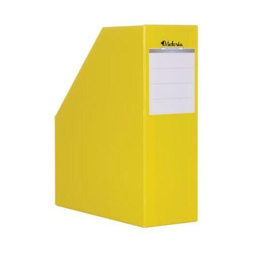 Iratpapucs, karton, 90 mm, VICTORIA, sárga (IDVPS)
