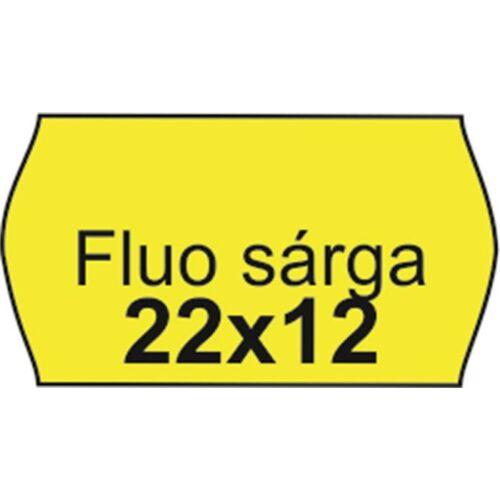 Árazószalag, 22x12 FLUO citrom (IS2212FC)
