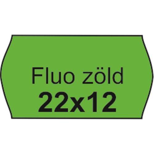Árazószalag, 22x12 FLUO zöld (IS2212FZ)