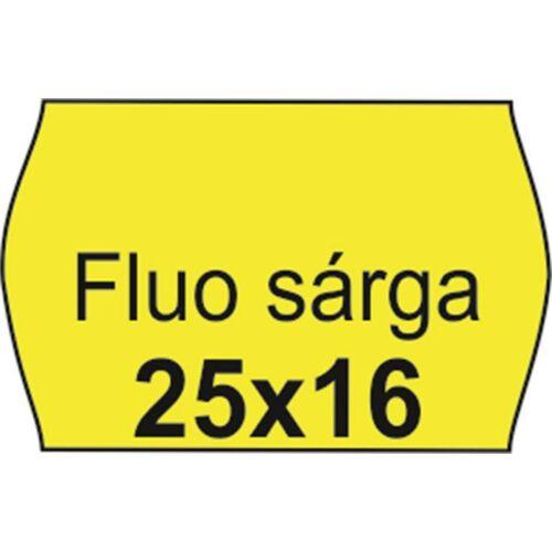 Árazószalag, 25x16 FLUO citrom (IS2516FC)
