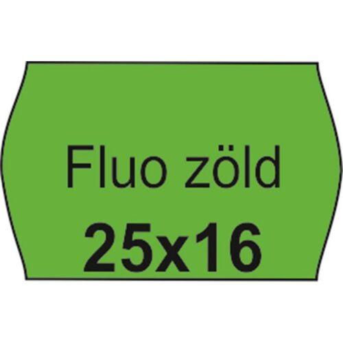 Árazószalag, 25x16 FLUO zöld (IS2516FZ)