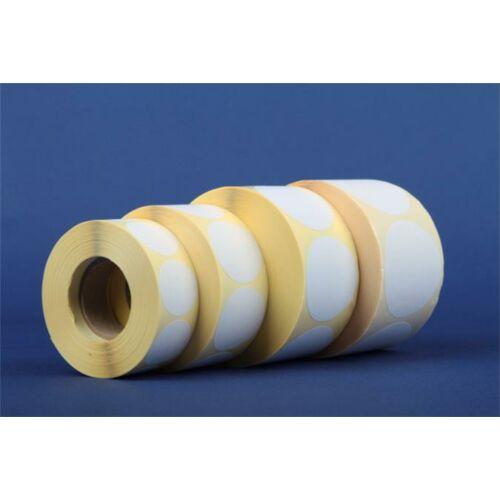 Etikett, vellum, 40 mm kör, 1000 etikett/tekercs, fehér (ISCK40F)