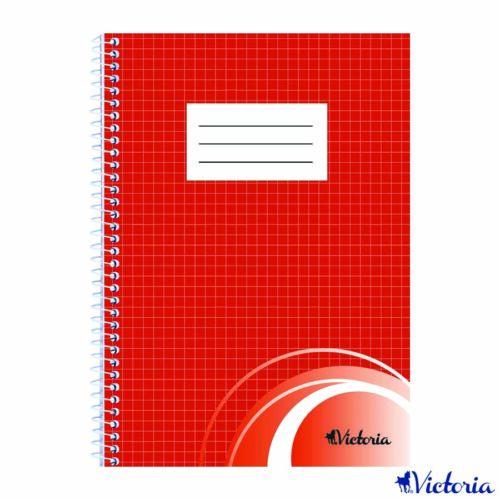 Spirálfüzet, A5, kockás, 70 lap, VICTORIA (ISVFSA5K)