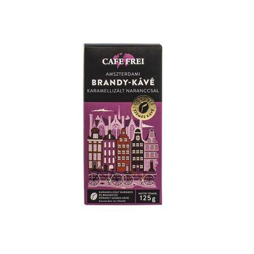 Kávé, pörkölt, szemes, 125 g, CAFE FREI Amszterdami brandy karamellizált naranccsal (KHK540)