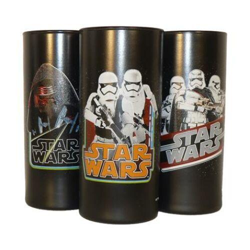 Üdítős pohár HB, fekete, Star Wars dekorral, vegyes mintában 270ml -3db-os szett (KHPU227)