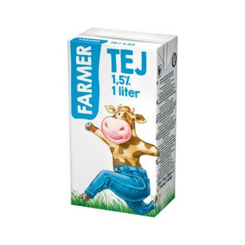 Tartós tej, dobozos, 1,5 százalék , 1 l, FARMER (KHTEJFARMER15)