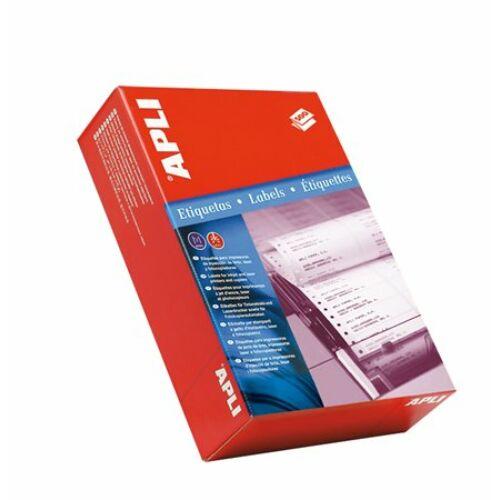 Etikett, mátrixnyomtatókhoz, 1 pályás, 101,6x74,1 mm, APLI, 2000 etikett/csomag (LCA0559)