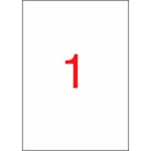 Etikett, univerzális, 210x297 mm, APLI, 25 etikett/csomag (LCA10819)