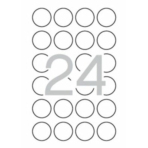 Etikett, 40 mm kör, biztonsági, APLI, 240 etikett/csomag (LCA11271)