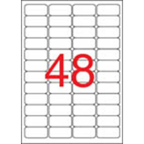 Etikett, 45,7x21,2 mm, biztonsági, kerekített sarkú, APLI, 480 etikett/csomag (LCA11272)