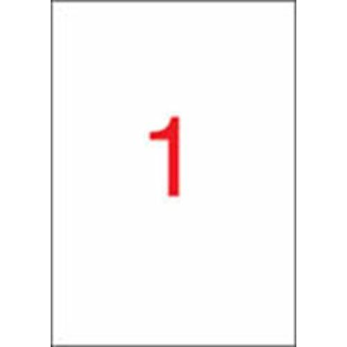 Etikett, univerzális, 210x297 mm, APLI, 20 etikett/csomag (LCA11709)