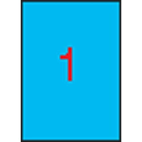 Etikett, 210x297 mm, színes, APLI, kék, 100 etikett/csomag (LCA11839)