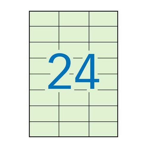 Etikett, 70x37 mm, színes, APLI, pasztell zöld, 480 etikett/csomag (LCA11844)