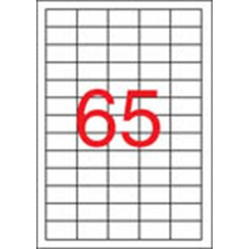 Etikett, univerzális, 38x21,2 mm, APLI, 1625 etikett/csomag (LCA1209)