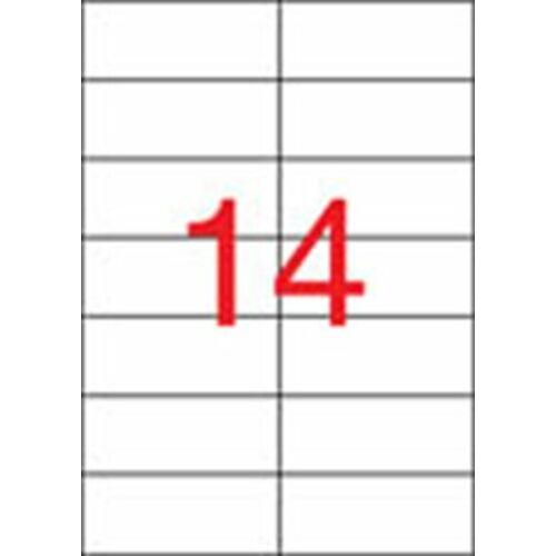 Etikett, univerzális, 105x42,4 mm, APLI, 1400 etikett/csomag (LCA1277)