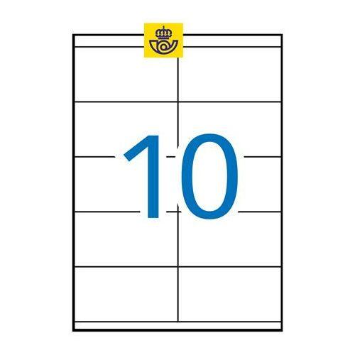 Etikett, univerzális, 105x57 mm, APLI, 1000 etikett/csomag (LCA1278)