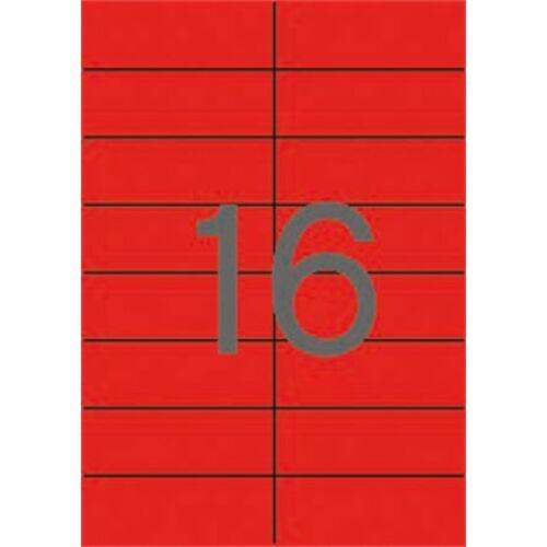 Etikett, 105x37 mm, színes, APLI, piros, 1600 etikett/csomag (LCA12978)