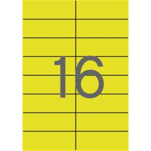 Etikett, 105x37 mm, színes, APLI, sárga, 320 etikett/csomag (LCA1595)