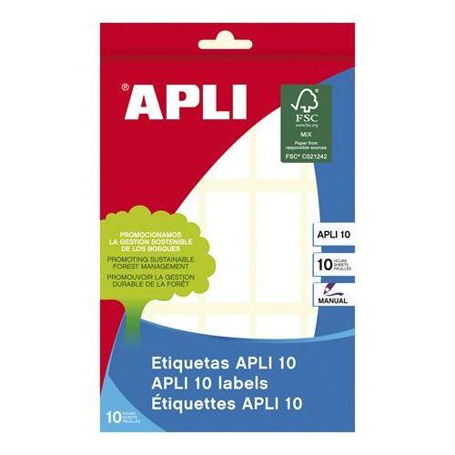 Etikett, 20x50 mm, kézzel írható, kerekített sarkú, APLI, 150 etikett/csomag (LCA1642)