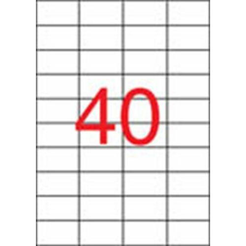 Etikett, univerzális, 52,5x29,7 mm, APLI, 20000 etikett/csomag (LCA1778)