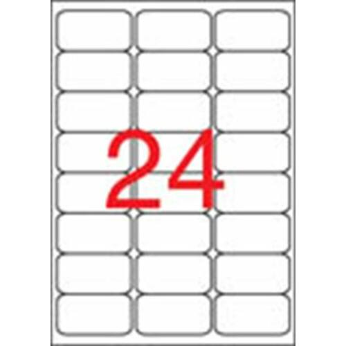 Etikett, univerzális, 64x33,9 mm, kerekített sarkú, APLI, 2400 etikett/csomag (LCA2409)
