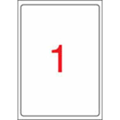 Etikett, univerzális, 199,6x289,1 mm, kerekített sarkú, APLI, 100 etikett/csomag (LCA2412)