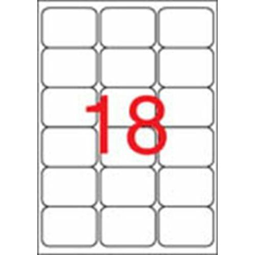 Etikett, univerzális, 63,5x46,6 mm, kerekített sarkú, APLI, 1800 etikett/csomag (LCA2415)