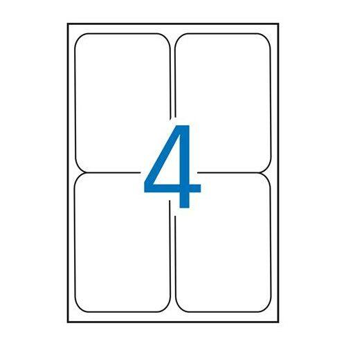 Etikett, univerzális, 99,1x139 mm, kerekített sarkú, APLI, 400 etikett/csomag (LCA2422)