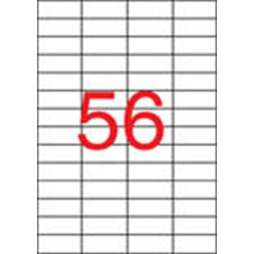 Etikett, lézernyomtatókhoz, 52,5x21,2 mm, APLI, 14000 etikett/csomag (LCA2517)